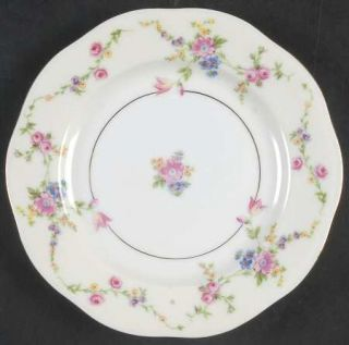 Baronet Juliet Bread & Butter Plate, Fine China Dinnerware   Multicolor Flowers