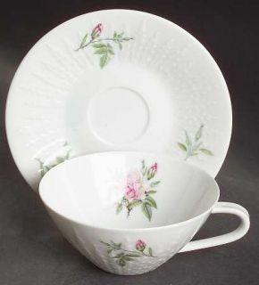 Hutschenreuther Rosita Flat Cup & Saucer Set, Fine China Dinnerware   Excellenz