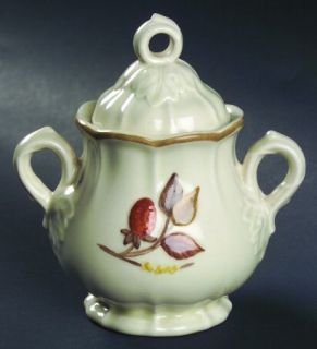 Metlox   Poppytrail   Vernon Autumn Berry Sugar Bowl & Lid, Fine China Dinnerwar