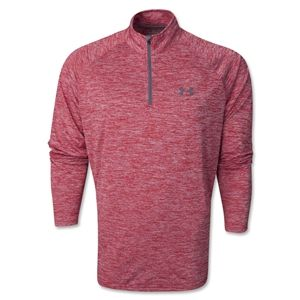 Under Armour 1/14 Zip LS T Shirt (Red/White)