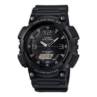 Casio Analog Digital Solar Sports Watch, Black, Mens
