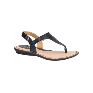 BOLO Kanika T Strap Sandals, Black, Womens