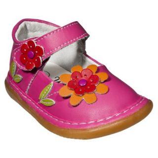 Little Girls Wee Squeak Daisy Mary Jane   Hot Pink 12