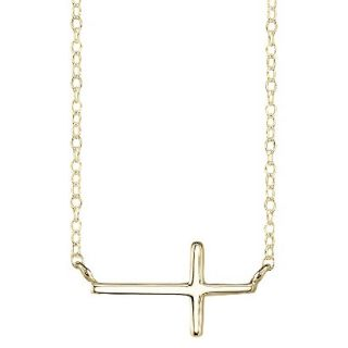 Gold Plated over Sterling Silver Pendant Cross   Gold