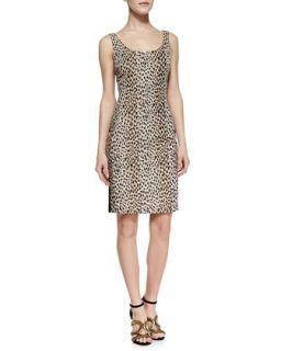 Womens Arianna Cheetah Print Front Dress, Carmel/Pearl/Black   Diane von