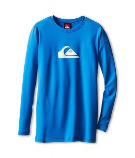 Quiksilver Kids Solid Streak L/S Surf Shirt Boys Swimwear (Blue)