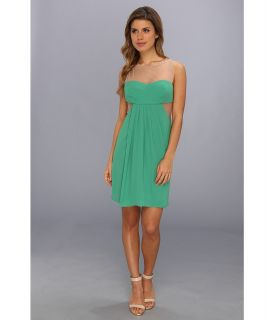 BCBGMAXAZRIA Aicha Sleeveless Draped Skirt Dress Womens Dress (Green)