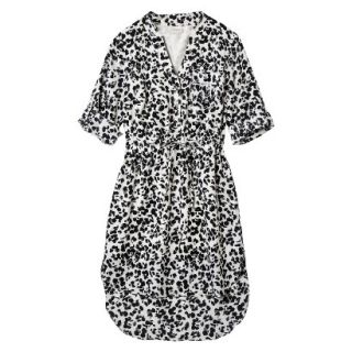 Merona Womens Drawstring Shirt Dress   Animal Print   M