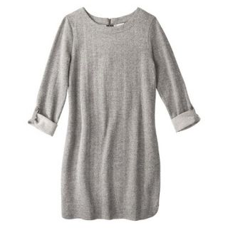 Merona Womens French Terry Dress   Gray   L