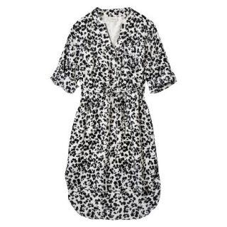 Merona Womens Drawstring Shirt Dress   Animal Print   XS