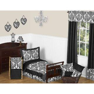 Isabella Black and White 5 pc. Toddler Bedding Set