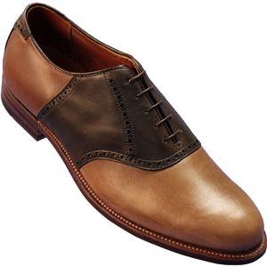 Alden Mens Bal Saddle Flex Sole Natural Chrome Excel Shoes, Size 8 D   99248