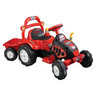 Lil Rider The King Tractor & Trailer   Red