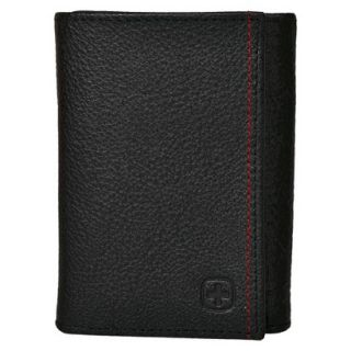 Swiss Gear Mens Bern Trifold Wallet   Black