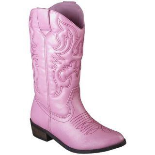 Girls Cherokee Gregoria Cowboy Boot   Pink 4