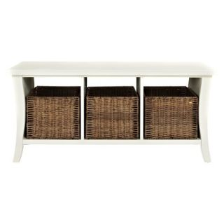 Bench Crosley Wallis Entryway Storage Bench   White