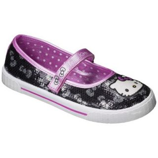 Girls Hello Kitty Sequin Sneaker   Black 13