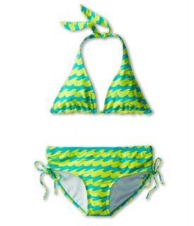 Billabong Kids Wave Halter Set Girls Swimwear Sets (Blue)