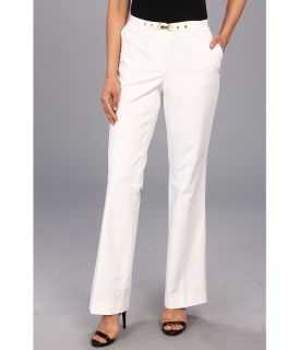 Anne Klein Flare Leg Trouser With Belt Womens Casual Pants (White)