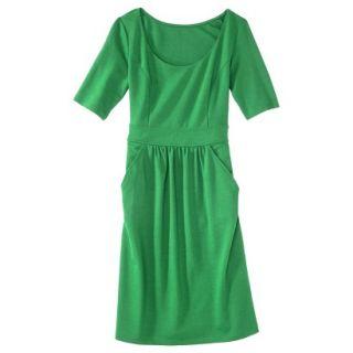 Merona Womens Ponte Elbow Sleeve Dress w/Pockets   Mahal Green   L