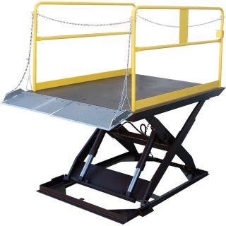 Vestil Scissor Dock Lift   Electric/Hydraulic, 12,000 lb. Capacity, 96 Inch L x