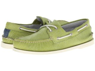 Sperry Top Sider A/O 2 Eye Washed Mens Lace Up Moc Toe Shoes (Green)