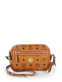 MCM Heritage Medium Crossbody Bag   Cognac
