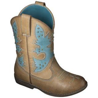 Toddler Girls Cherokee Glinda Cowboy Boots   Turquoise 6