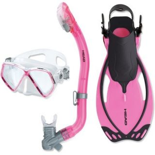 Head Head Pirate Mask, Snorkel and Fins Set  Kids,  Pink,  S/M