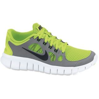 Nike Free 5.0 Running Shoes  Boys,  VOLT/COOL Grey/PURE PLATI,  Kids 6