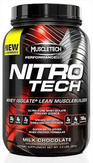 Muscletech Products   Nitro Tech Performance Series Whey Isolate Chocolate   2 lbs.