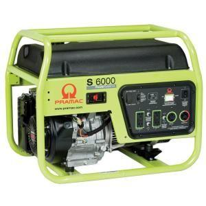 Pramac 6,000 Watt Gasoline Powered Manual Start Portable Generator with Honda GX340 Engine S6000