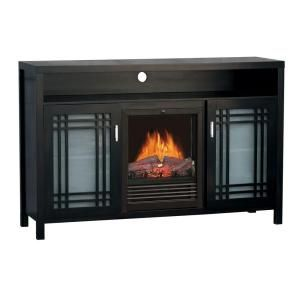 Quality Craft 54 in. Media Unit Electric Fireplace Heater in Cappuccino DISCONTINUED MM905 54BCP