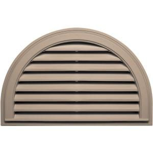 Builders Edge 22 in. x 34 in. Half Round Gable Vent #023 Wicker 120023422023