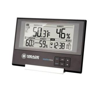 Meade Slim Line Personal Weather Station with Atomic Clock and 145 ft. Sensor TE256W
