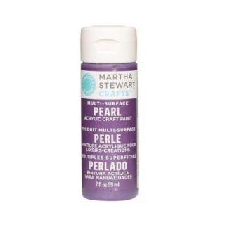 Martha Stewart Crafts 2 oz. Purple Martin Multi Surface Pearl Acrylic Craft Paint 32119