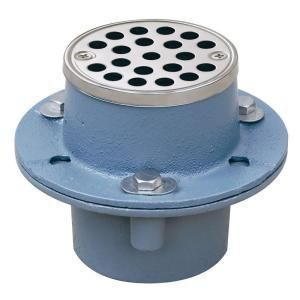 Sioux Chief 2 in. Cast Iron Shower Drain with Strainer 821 2INS
