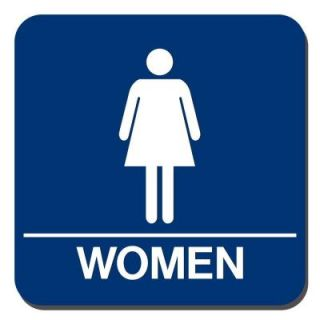 Lynch Sign 8 in. x 8 in. Blue Plastic with Women Symbol Sign WR 18
