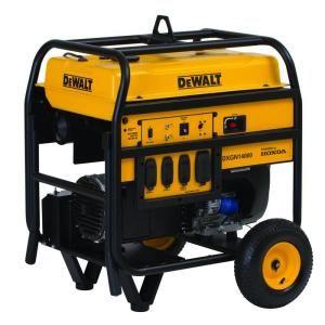 DEWALT 14,000 Watt Gasoline Powered Portable Generator with Honda Engine Electric Start with Portability Kit DXGN14000