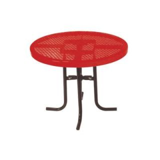 Ultra Play 36 in. Diamond Red Commercial Park Low Round Portable Table PBK361L RDVR