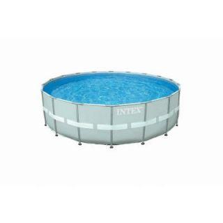 Intex 18 ft. Round x 52 in. Deep Ultra Frame Combo Pump Swimming Pool Set 28333EG
