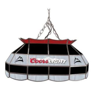 Trademark Global Coors Light 28 in. Stained Glass Pool Table Lamp CL2800
