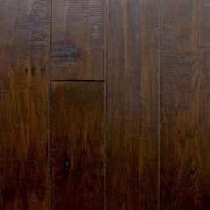 Millstead Handscraped Hickory Chestnut 3/4 in. Thick x 4 in. Width x Random Length Solid Hardwood Flooring (21 sq. ft. / case) PF9615