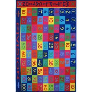 LA Rug Inc. Fun Time Multiplication Multi Colored 8 ft. x 11 ft. Area Rug FT 143 0811