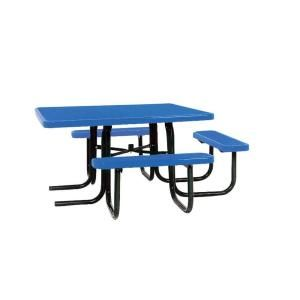 Ultra Play 46 in. x 55 in. Diamond Blue Commercial Park Surface Mount and Portable ADA Square Table PBK358H VB