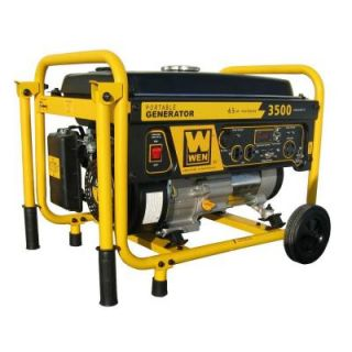 WEN 3,500 Watt Gasoline Powered Portable Generator with Wheel Kit 56352