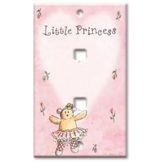 Art Plates Little Princess   Double Phone Jack Wall Plate DPH 350