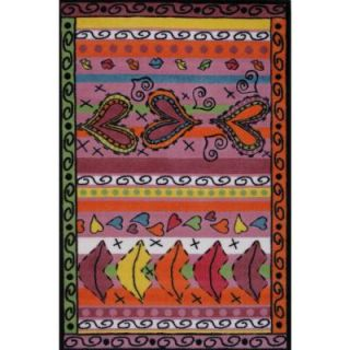 LA Rug Inc. Supreme Sassy Multi Colored 39 in. x 58 in. Area Rug TSC 217 3958