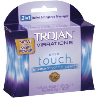 Trojan Vibrations Ultra Touch Intense Vibrating Fingertip & Condom Personal Massager: Medicine Cabinet