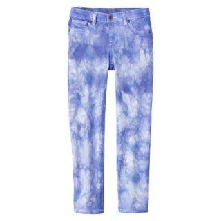 Girls Tye Dye Print Skinny Jean   Bright Blue 16